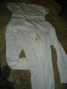 White Cherokee Workwear Scrubs One L Top & Two L Bottoms