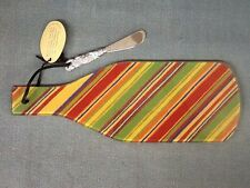 NEW! Wine Bottle Shaped Cheese Server with Serving Knife. Santa Fe Fiesta Design