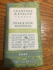 Crabtree & Evelyn PEAR & PINK MAGNOLIA Uplifting Soap 5.5 Oz New