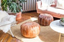 Moroccan poufs Available in Colors ottoman poufs Leather furniture