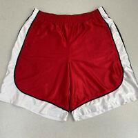 Foot Locker Activewear Shorts Mens 2XL Red White Elastic Waist Soccer Shorts