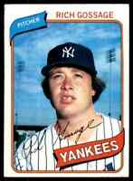 1980 Topps Rich Goose Gossage 4 #140