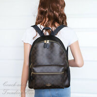 NWT Coach F58314 Charlie Backpack Double Shoulder Bag in Brown Black