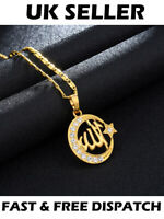 Gold Muslim Allah Arabic Islamic Round Star Necklace God Jewellery Gift Pendant