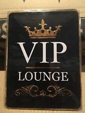 VIP LOUNGE - Tin Metal Wall Sign