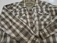 Vintage Gotcha Men's 90s Long Sleeve Snap Shirt Size-Xxl