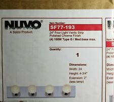 Nuvo Lighting SATCO Products SF77-193 Polished Chrome 4-Light 24