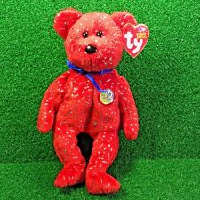 Ty Beanie Baby Decade The Bear Red Edition 10 Year Bear MWMT - FREE Shipping