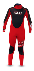IGLU 4/3 Kids Winter Wetsuit Steamer Youth Full Length Wetsuit Lave Red