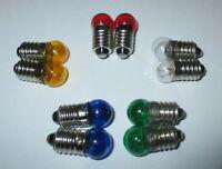 Lampes de Rechange Filetage de Vis 11mm - E10 - 19V - Couleur au Choix 10 X Neuf