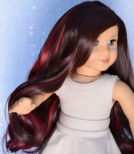 "Custom Doll Wig for 18"" American Girl doll Head Size Heat Safe Ag Deluxe Wig"