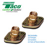 "Taco 254 3/4"" NPT Bronze 2-Piece Shut-Off Swivel Flange Set For Circulator Pump"
