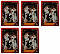 (5) 1992 Legends #20 Jim Abbott Baseball Card Lot California Angels