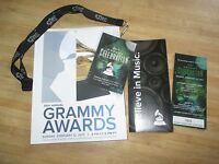 2017 MINT 59th GRAMMY AWARDS Program Tom Petty Ticket Grammys ARETHA FRANKLIN