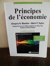 Principes de l'économie - MANKIW & TAYLOR - Français - 1175 Pages - DE BOECK