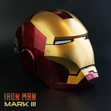 NEW Roan X Lager MK3 Iron Man Helmet Hand Touch CONTROL ELECTRIC OPEN LED EYE