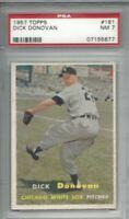 1957 Topps baseball card #181 Dick Donovan, Chicago White Sox graded PSA 7
