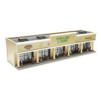 O Scale Prebuilt Prelit LED Lighted 5 Retail Store Strip Mall Shopping Center