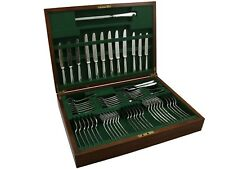 Vintage Elizabeth II Sterling Silver Canteen of Cutlery for Six Persons 1970