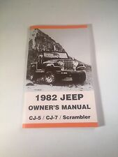 Jeep Owners Manual - 1982  CJ5 / CJ7 / CJ8 Scrambler