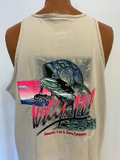 Hawaii Fish & Game Fishing line Lure Boat Hook Hawaiian XL Tank Top T-Shirt