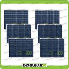 Set 6 Pannelli Solari Fotovoltaici 50W 12V multiuso Pmax 300W Baita Barca