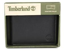 TIMBERLAND BLIX SLIMFOLD BLACK GENUINE LEATHER CREDIT CARD BIFOLD MENS WALLET