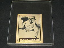 RUSS JACKSON CFL ROUGH RIDERS LEGEND 1962 TOPSS AUTHENTIC VINTAGE FOOTBALL CARD