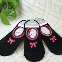 New Lot 3 Pairs Women Invisible Socks Anti Slip Trainer Shoe Liner Gym Socks 04