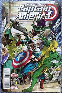 Sam Wilson Captain America #6 NM FIRST FULL APPEARANCE NEW FALCON IN COSTUME MCU