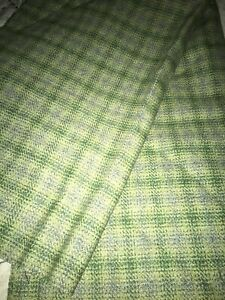Welsh woven wool fabric 2m x 140cm. New Green
