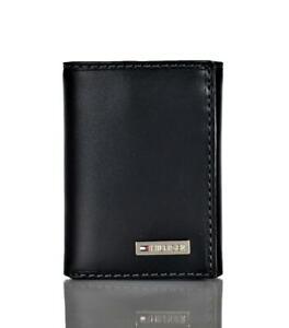 Tommy Hilfiger Men's Fordham Flip Trifold Wallet Black