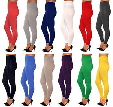 Full Length High Waisted Leggings -Premium Cotton and Lycra- All colours + sizes