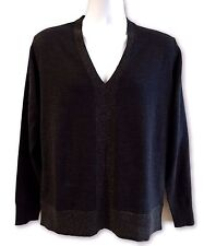 NEW, PAUL SMITH MEN'S WOOL CHARCOAL V-NECK SWEATER, M, $545