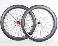 25 Wide Sapim CX-RAY Carbon Clincher Wheelset 700C 60 Novatec 3k Matt Road Bike