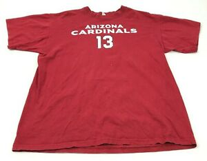 NFL Kurt Warner Arizona Cardinals Shirt Mens Size Large L Red Football Tee Adult