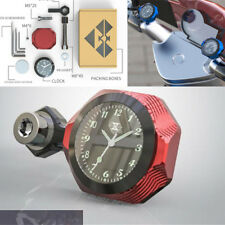 Screw Red CNC Motorcycle Watch Accessories Luminous Waterproof Clock Universal