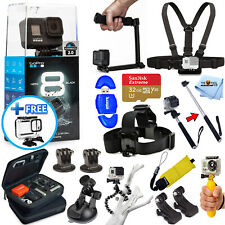 GoPro HERO8 HERO 8 Black - All In 1 PRO ACCESSORY KIT + 32GB + Tripod and More