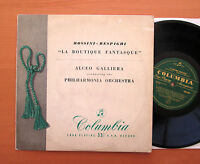 "33S 1009 Rossini-Respighi La Boutique Fantasque Alceo Galliera Columbia 10"" ED1"