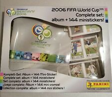 Complete SET album + 144 mini stickers GERMANY 2006 World Cup Panini - NEW