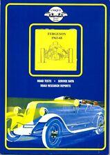 Ferguson 1961-68 voitures de course JENSEN FF + + - Très Utile Livre