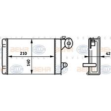 ORIGINAL HELLA Innenraumheizung Wärmetauscher Audi VW Polo ua. Bj.74-94