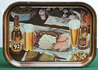 OERTELS '92 LAGER BEER TRAY, ORTEL CO. LOUISVILLE, KENTUCKY