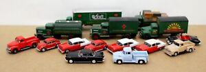 Lot of 15 HO 1:87 Diecast Cars & Trucks Imex Model Power Malibu (loose)