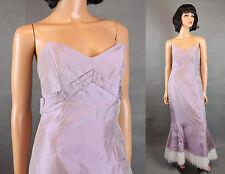 Alvina Valenta Bridesmaid Dress Sz S Long Light Purple Taffeta Mermaid Prom Gown