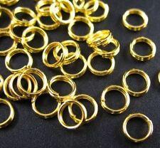 300pcs Gold Plated Split Rings 5mm E271