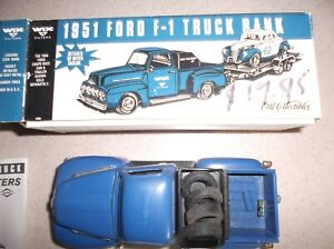 1951 Ford F-1 Diecast Truck Bank Ertl Wix Filters 1:25 Scale in Box