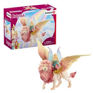 Schleich Bayala Fairy in Flight on Winged Lion Toy Figure Set