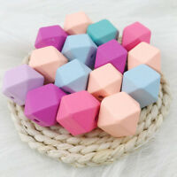 DIY 30 Pcs 15mm Wooden Unfinished Cube Geometric Beads For Jewelry Making Craft