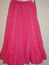 Vintage Rockmount Ranch Wear pink full skirt open snap front panel sissy USA-XS
